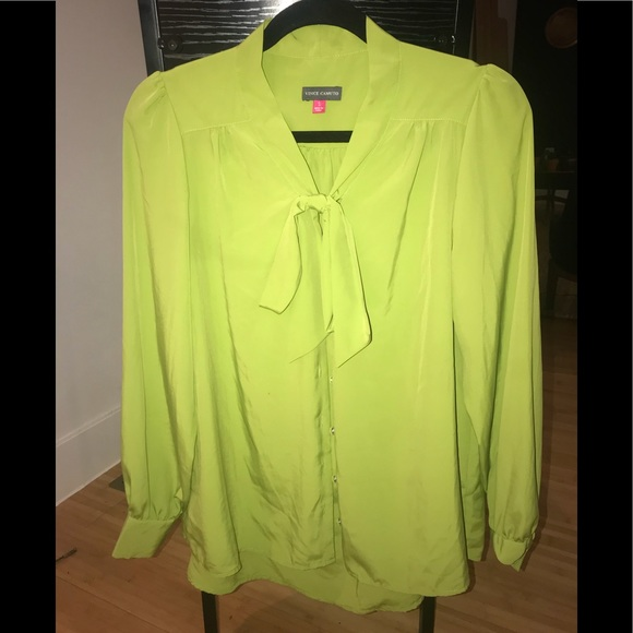 Vince Camuto Tops - Gorgeous lime green Vince Camuto blouse